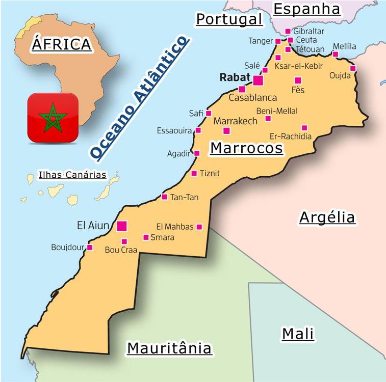 marrocos no mapa Mapa de Marrocos – BLOG DE MARROCOS marrocos no mapa