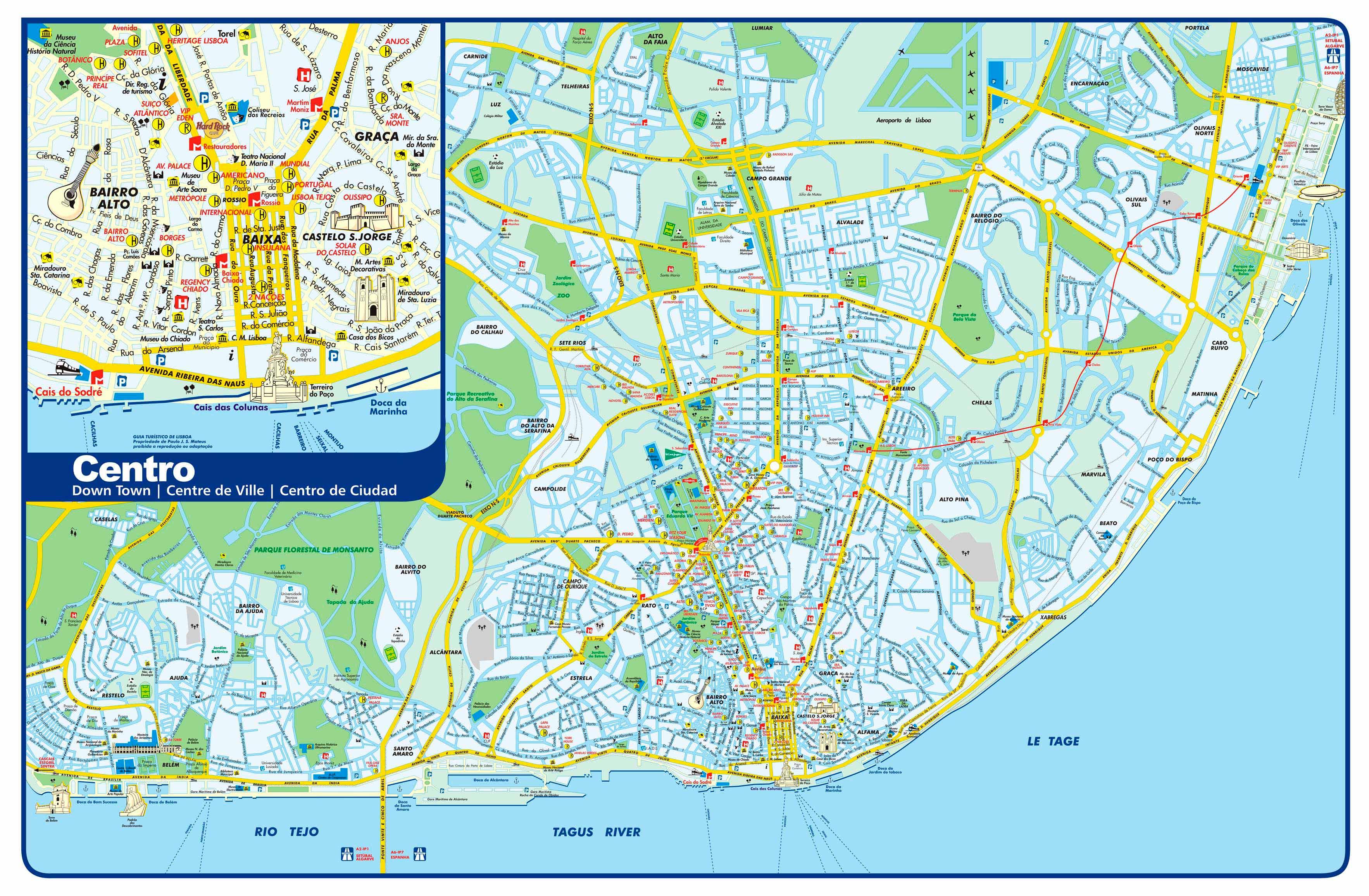 mapa de lisboa ruas Mapa de Monumentos em Lisboa | Roteiros e Dicas de Viagem mapa de lisboa ruas