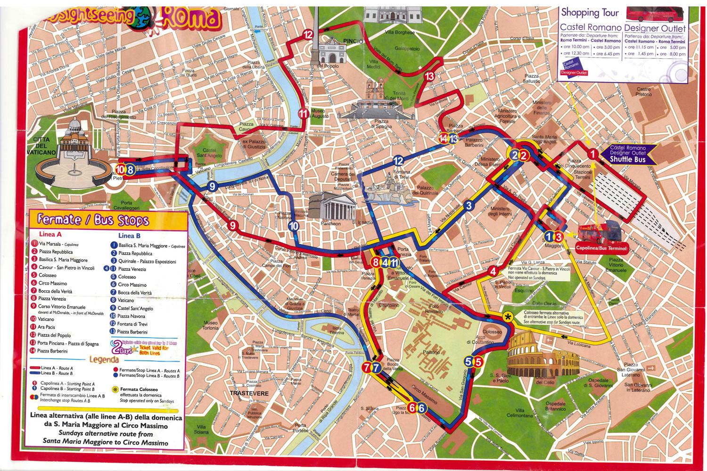 Mapa Monumentos Roma
