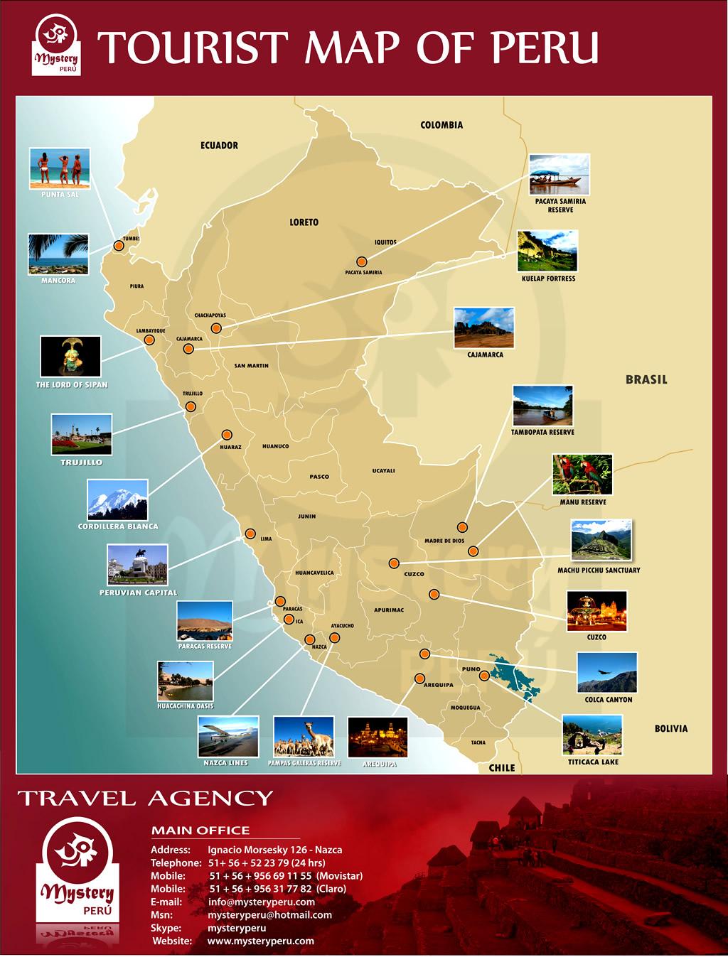 Mapa Turistico Peru