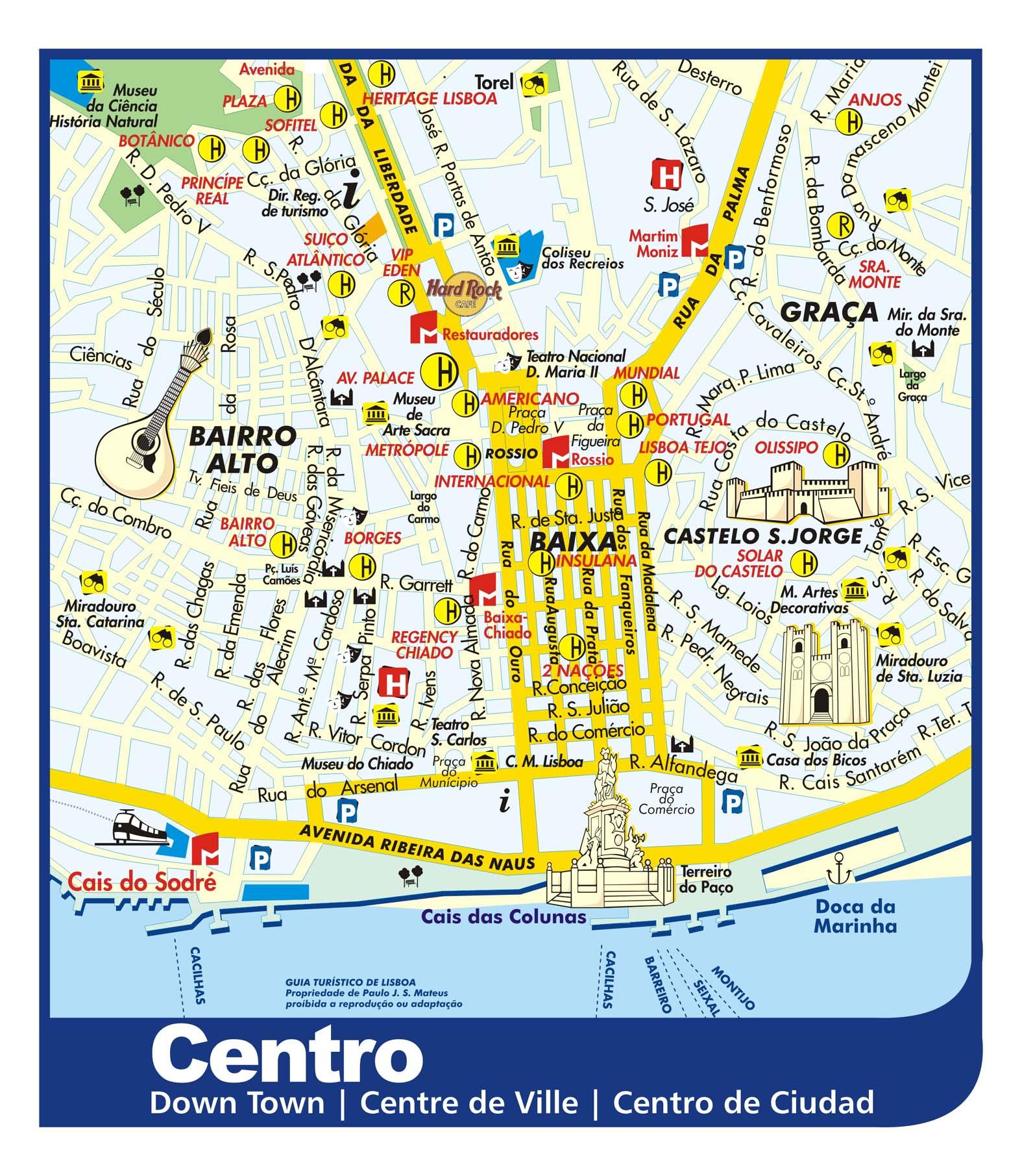mapa do lisboa Mapa de Monumentos em Lisboa | Roteiros e Dicas de Viagem mapa do lisboa