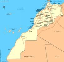 Mapa de Marrocos