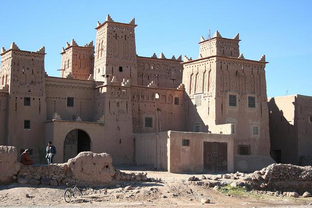 Casbah Ameril no Oásis de Skoura, Ouarzazate Marrocos