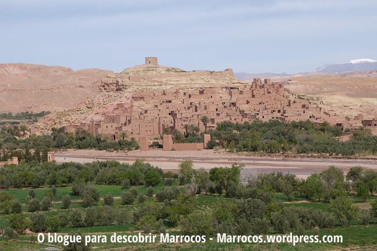 O lindo Ksar de Ait Benhaddou, UNESCO Património Mundial em Marrocos