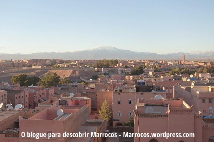 Vista do centro da Cidade de Ouarzazate