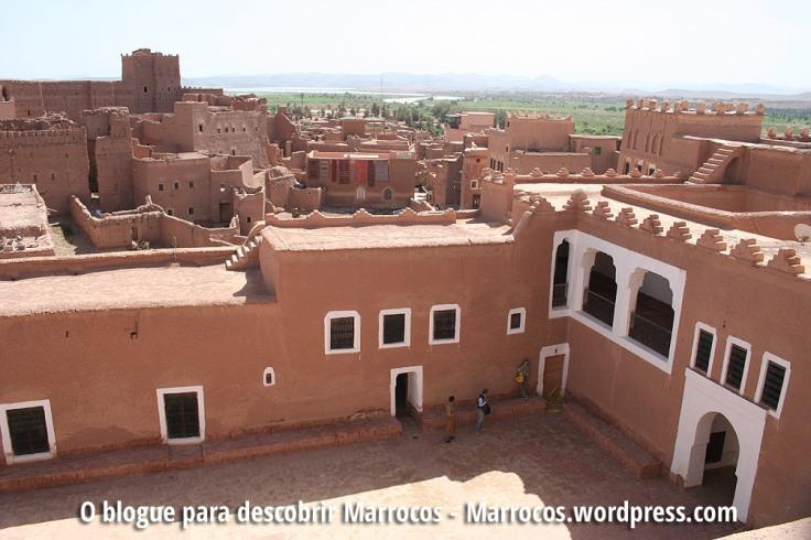 Centro histórico de Ouarzazate e vista para o Bairro de Taourirt