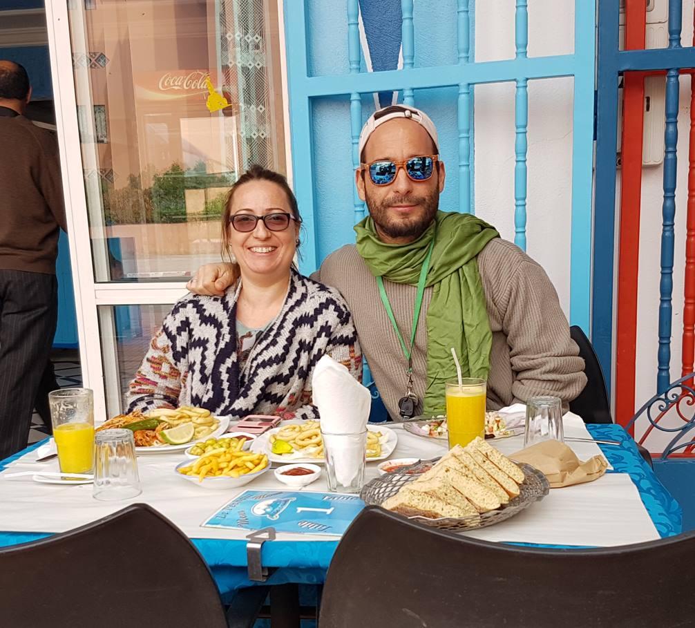 Joao Leitao e Rita Leitao em Marrocos